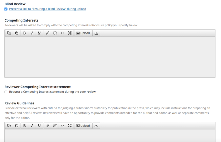 OJS Workflow Setting For Anonymous Reviewer