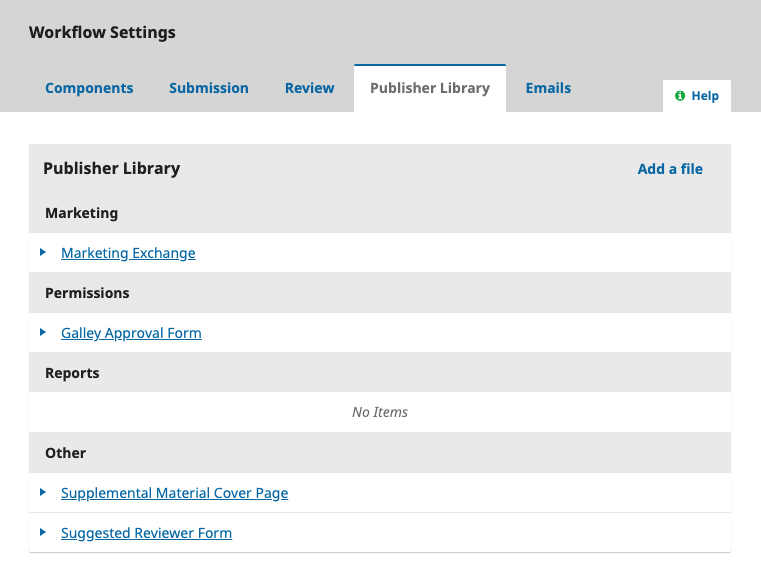 OJS Workflow Setting For Publisher Library